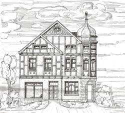 Zeichnung zur Erweiterung des Wohnhauses von Rendant Joseph Pauly, Hallenberg, 20.02.1909