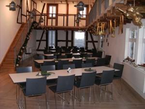 Für eine Veranstaltung eingerichtet: Der große Saal